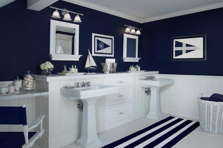 Nautical Bathroom Mirrors: Boy's Bathroom Design