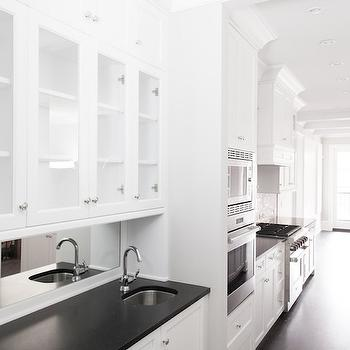 Black and White Butlers Pantry, Transitional, kitchen, PLD Custom Homes