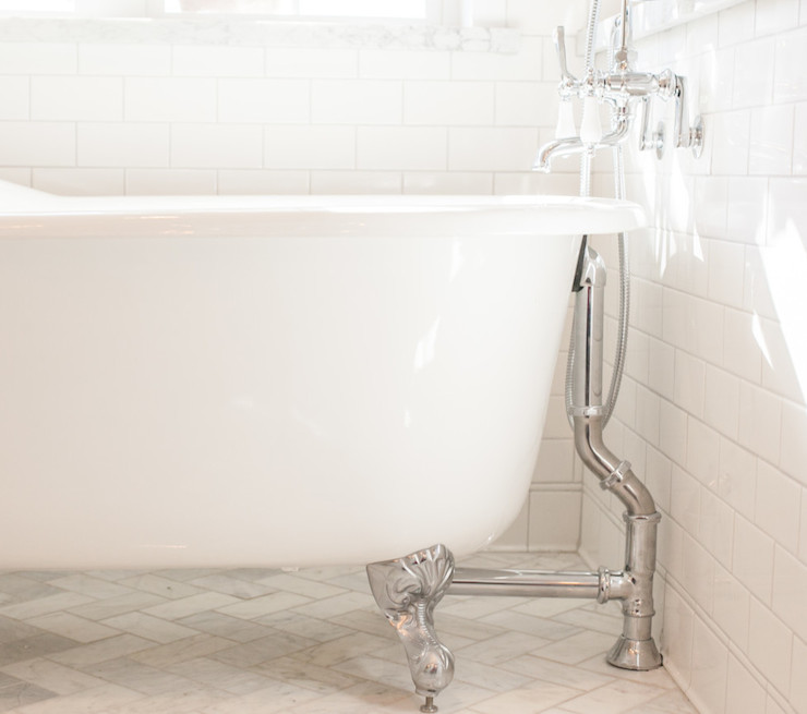Silver Claw Foot Tub - Transitional - bathroom - Rafterhouse