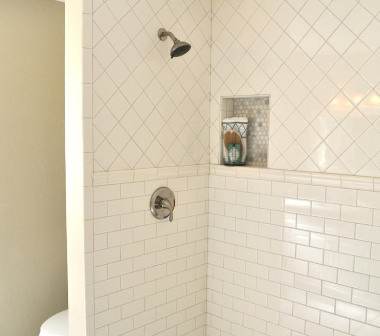 Shower Pencil Rail - Transitional - bathroom - Rafterhouse