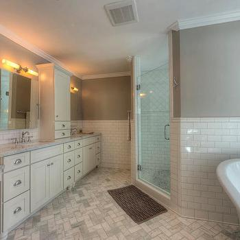 White and Gray Master Bathroom, Transitional, bathroom, My Rafter House