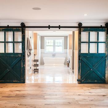 Barn Doors Bathroom, Country, bathroom, Rafterhouse
