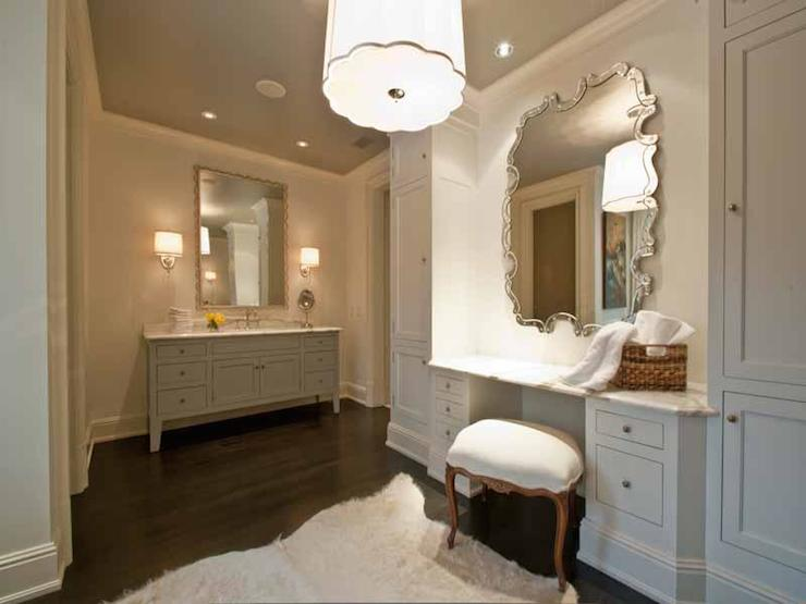 Built in dressing table bathroom for Bathroom dressing ideas