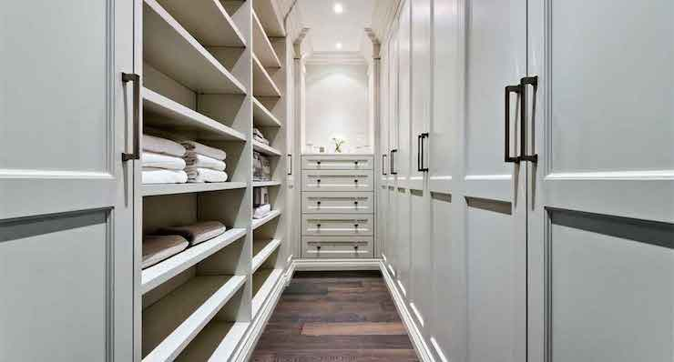 Narrow Walk In Closet Transitional Closet House Home