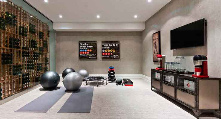 Basement Yoga Studio Design Ideas