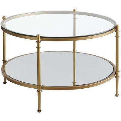 Clara Gold Coffee Table view full size - Gold Rim Round Coffee Table - Products, Bookmarks, Design