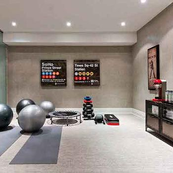 basement gym - Home Yoga Studio Design Ideas