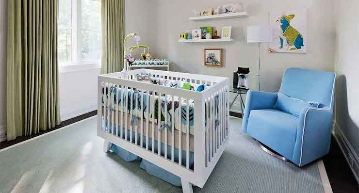 Crib In Center Of The Room Contemporary Nursery