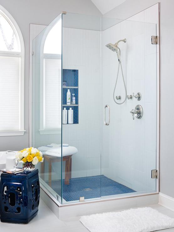 Blue bathrooms transitional bathroom benjamin moore for Christine huve interior designs