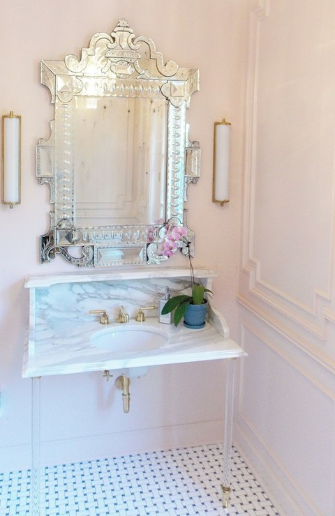 Pink Bathrooms Transitional Bathroom Farrow And Ball