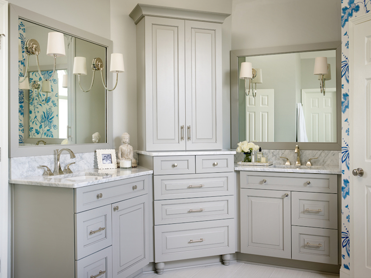 his and hers vanities - Bathroom Cabinets Corner
