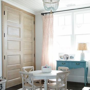 Turquoise Console Table, Transitional, girl's room