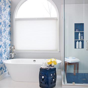 Cobalt blue accents contemporary bathroom kandrac kole - Cobalt blue bathroom accessories ...