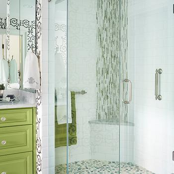 Corner Shower Bench, Contemporary, bathroom, Kandrac Kole Interiors