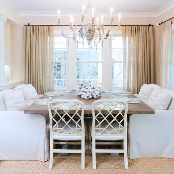 Square Dining Table, Cottage, kitchen, Ohara Davies Gaetan