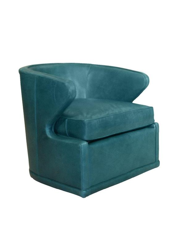... Peacock Blue Swivel Chair view full size