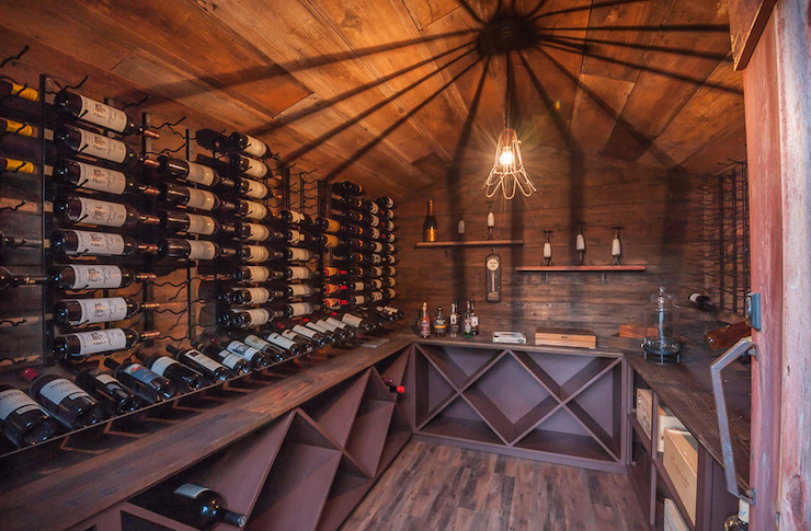 Rustic Wine Cellars & Rustic Wine Cellars - Country - deck/patio - Castor Architecture