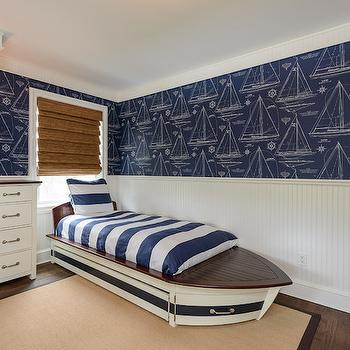 Kids Boat Bed, Cottage, boy's room, Space Saavy Design