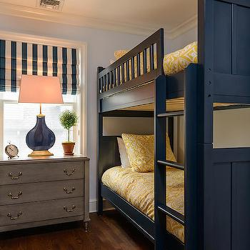 Navy Bunk Beds, Transitional, boy's room, Space Saavy Design