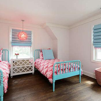Turquoise Kids Beds, Contemporary, girl's room, Space Saavy Design