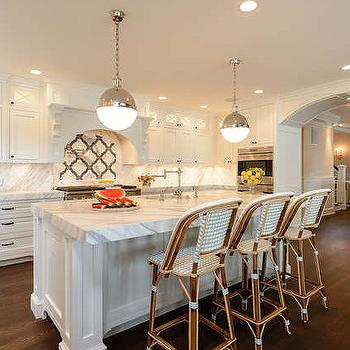 French Bistro Counter Stools, Transitional, kitchen, Space Saavy Design