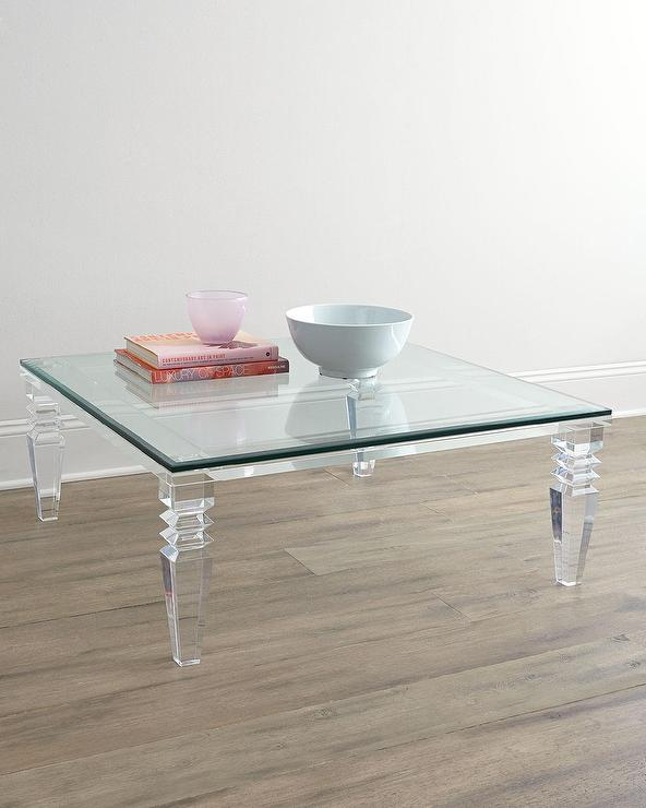 s lucite clear coffee acrylic table