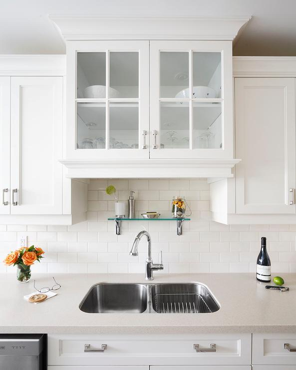 shelf above kitchen sink design ideas