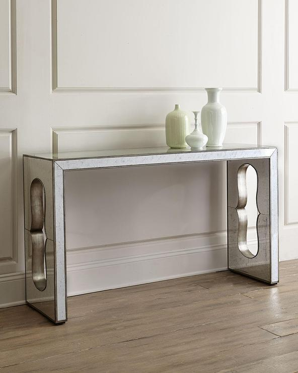 Leandra Silver Console Table View Full Size