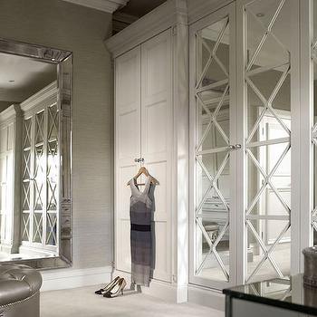 Venetian Floor Mirror Transitional Closet Kruger