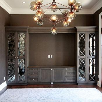 Mirrored Media Cabinet Design Ideas