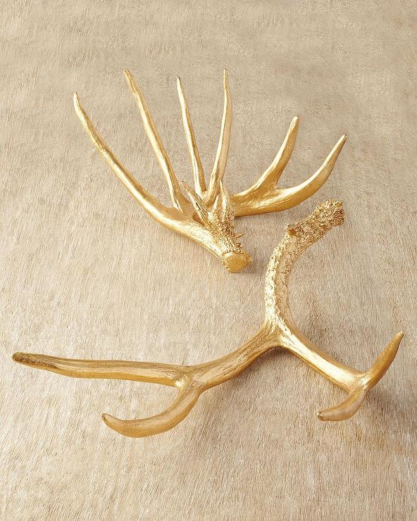 Golden wall decor antlers for Antlers decoration