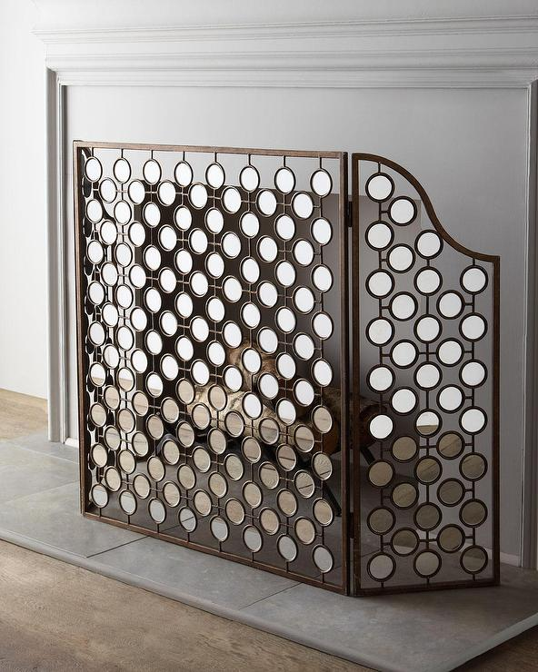Mirrored Bronze Fireplace Screen - Branch Fireplace Screen - Products, Bookmarks, Design, Inspiration