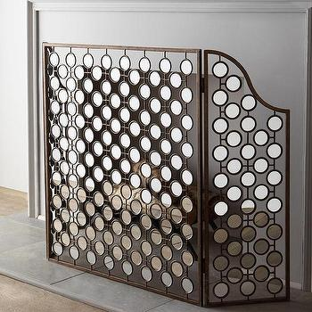 Mirrored Fireplace Screen I Horchow