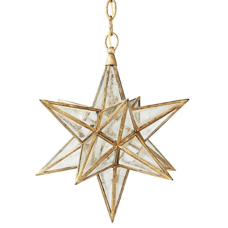 moravian gold star glass pendant view full size - Star Pendant Light