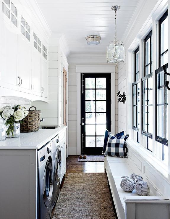 Narrow laundry room design ideas for Mudroom layout
