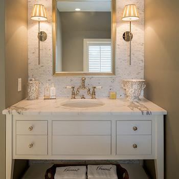 Taupe Walls Contemporary Bathroom Sherwin Williams