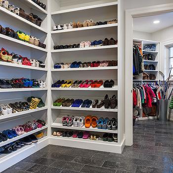Mudroom Shoe Shelves, Traditional, laundry room, Archer Buchanan Architecture