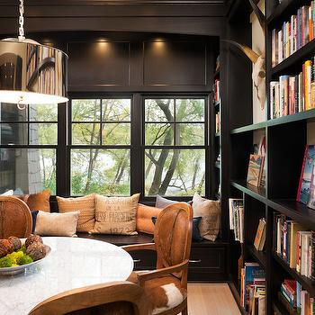 Reading Nook Window Seat, Transitional, den/library/office, Kyle Hunt and Partners