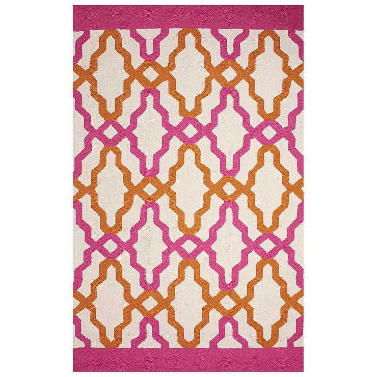 Franca Pink Hand Hooked Indoor Or Outdoor Rug
