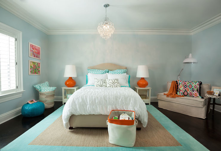 Aqua blue walls design decor photos pictures ideas for Aqua blue paint for walls