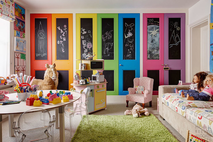 Chalkboard Doors Contemporary Girls Room Michael Reeves