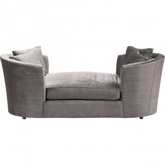 The Sandra Napper Double Gray Contemporary Chaise