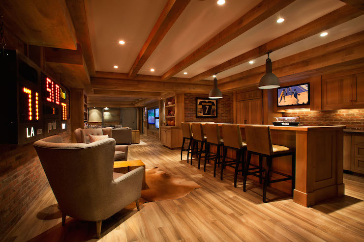 Man Cave Urban Areas : Man cave in basement transitional garrison