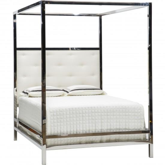 Silver And Gold Bed Frame Full Metal