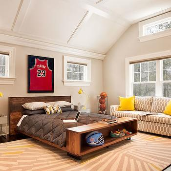 Charming Basketball Themed Boys Room