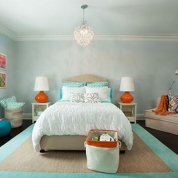 Aqua Kids Room, Contemporary, girl's room, Garrison Hullinger Interior Design
