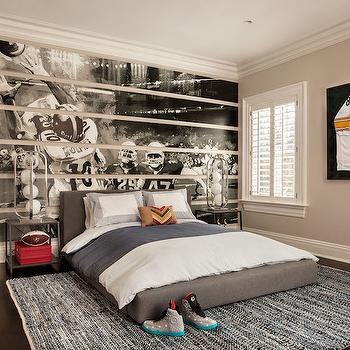 Football Themed Kids Room, Transitional, boy's room, Garrison Hullinger Interior Design