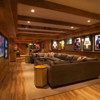 Basements Gray Sectional Sofa Design Ideas