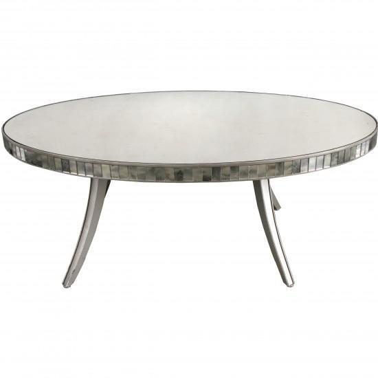 White Coffee Table Oval: White Oval Bottom Shelf Coffee Table