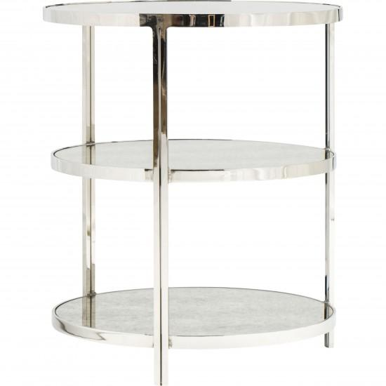 Worlds Away Audrey Nickel 3 Tier Side Table I High Fashion Home